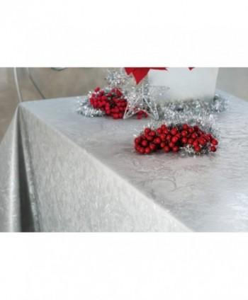 Tovaglia floreale argento