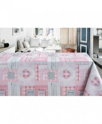 Tovaglia country cottage rosa rotolo