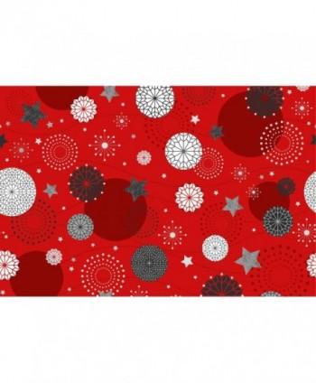 Tovaglia bolle e stelle rossa rotolo