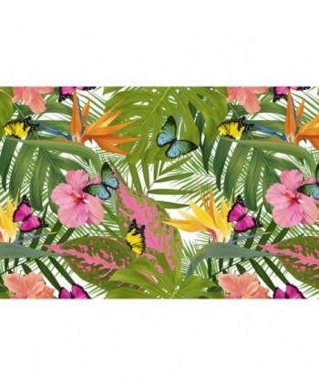 Tovaglia tropicale con farfalle rotolo