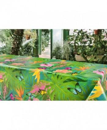 Tovaglia tropicale con farfalle verde rotolo
