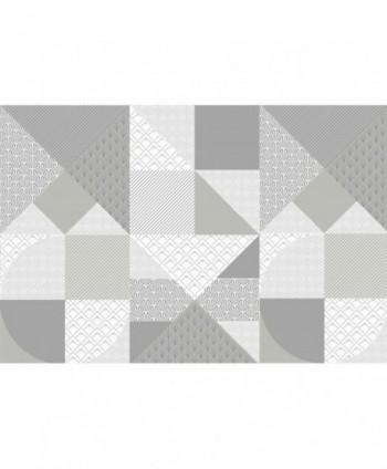Tovaglia piramidi deco grigia rotolo