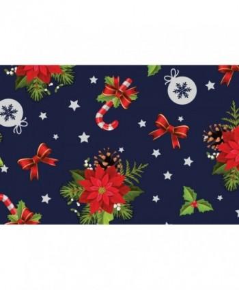 Tovaglia stelle di Natale blu notte rotolo