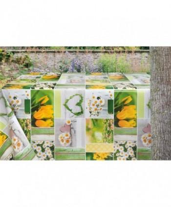 Tovaglia confezionata margherite e tulipani