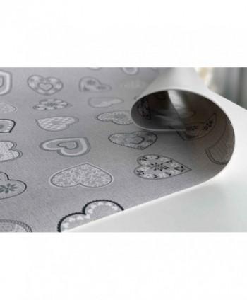 Mollettone cuoricini argento rotolo