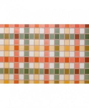 Mollettone quadretto multicolor rotolo