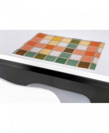 Set di 6 tovagliette quadretto multicolor