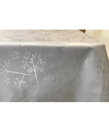Tovaglia alberelli grigio chiaro rotolo