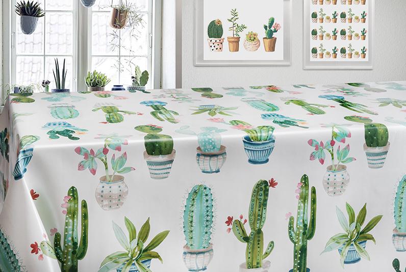 tessile con cactus
